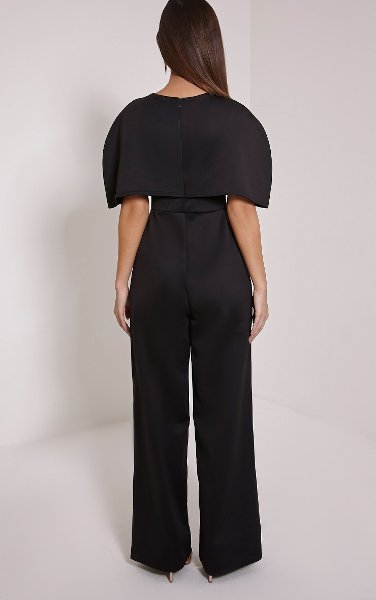 Claudie Black Cape Jumpsuit 2
