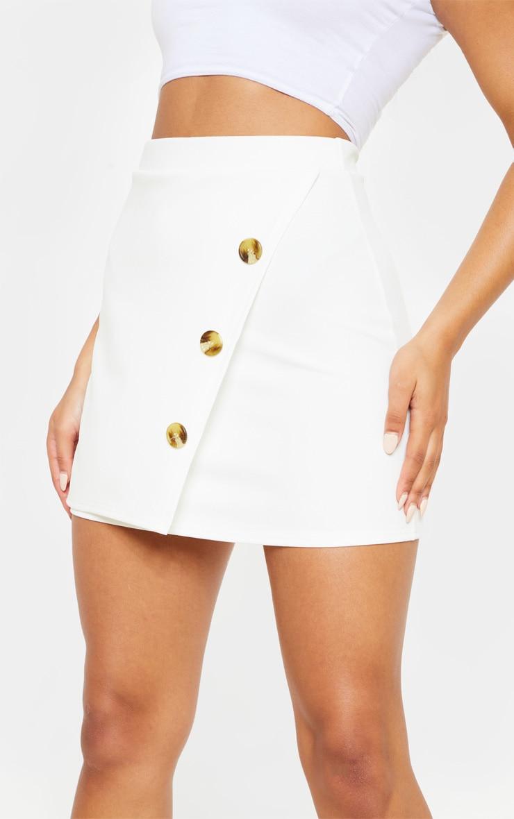 Cream Button Detail Skirt  6