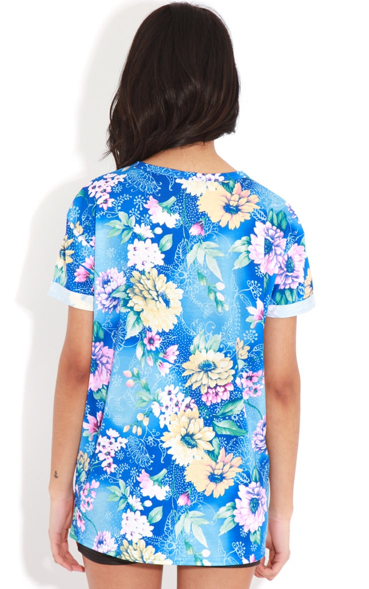 Layla Blue Floral Florida 76 Sports Tee 2