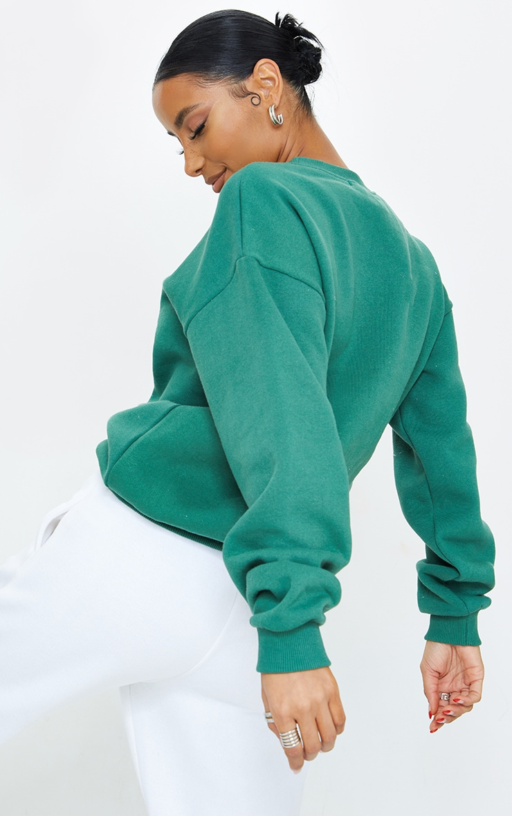 Forest Green Limited Edition Embroidered Sweatshirt 2