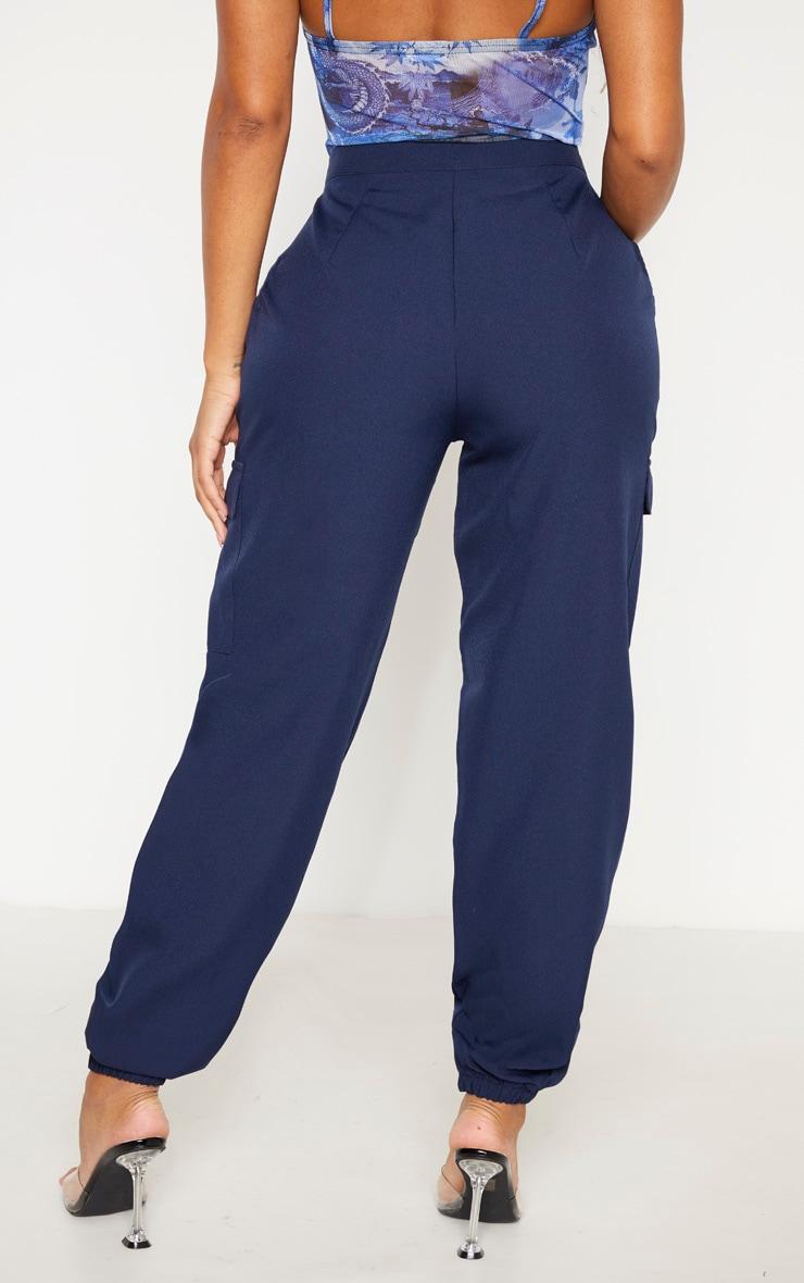Shape Navy Pocket Detail Cargo Pants 4