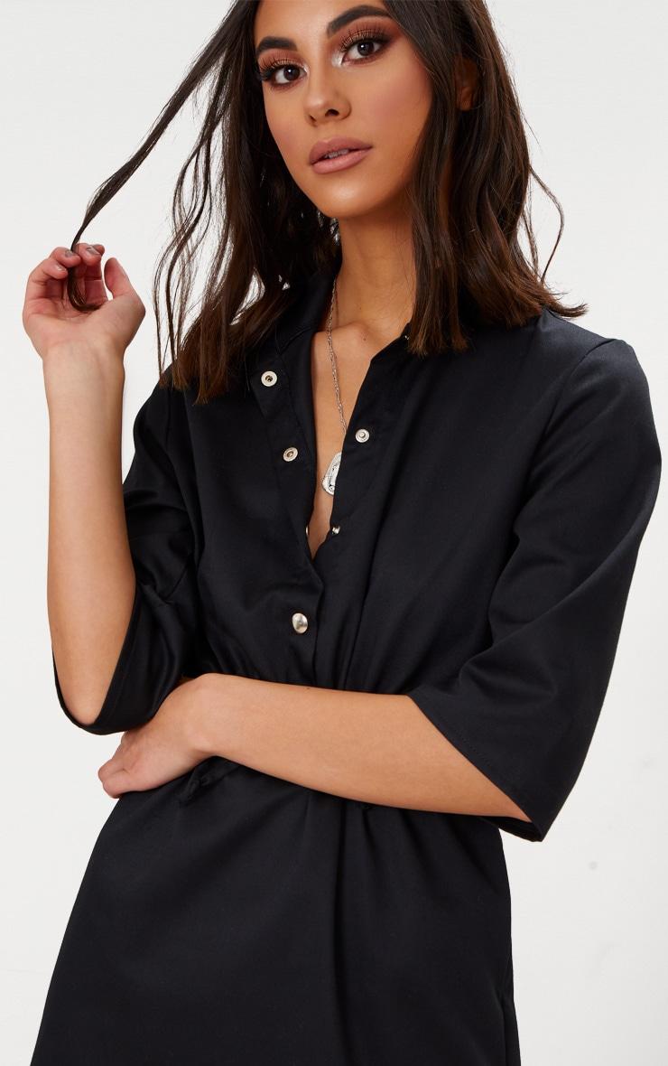 Black Utility Shirt Dress  5