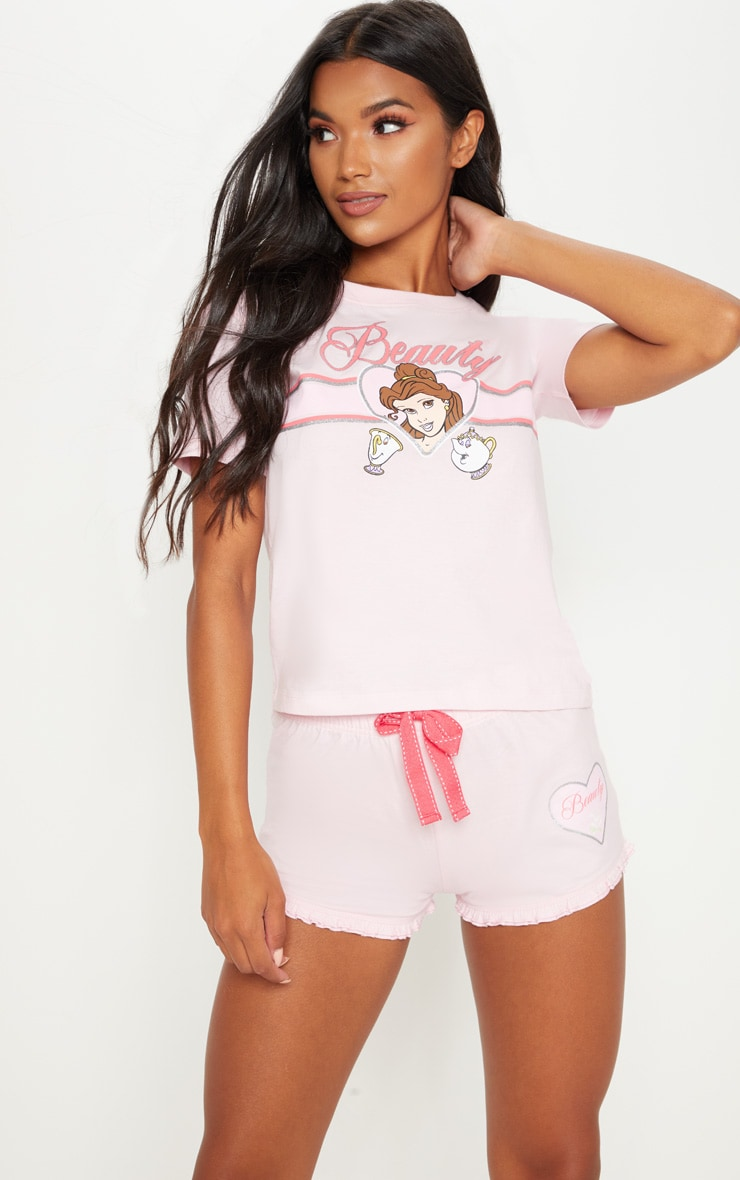 Pale Pink DISNEY Beauty And The Beast Short PJ Set