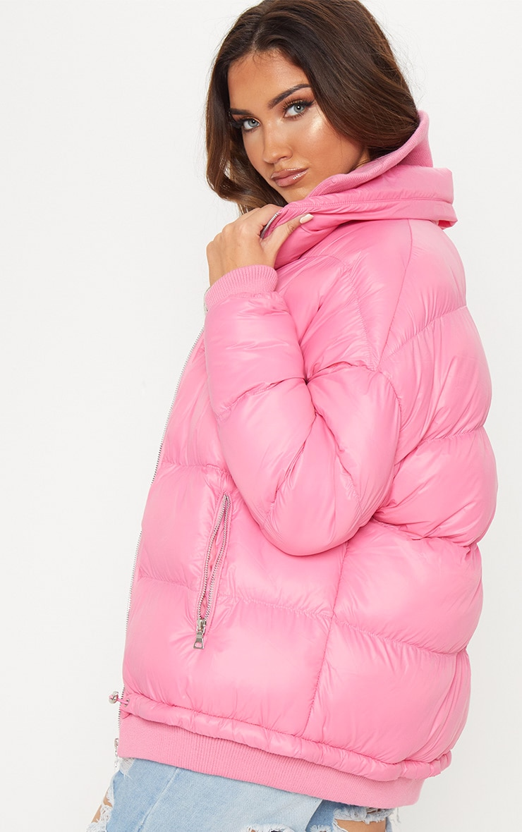 Pink Oversized Puffer 2