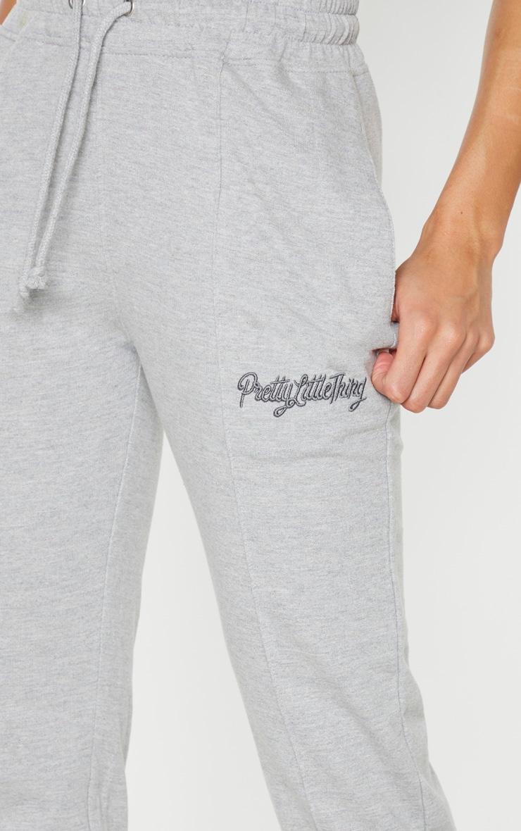 PRETTYLITTLETHING - Jogging cigarette gris chiné 5