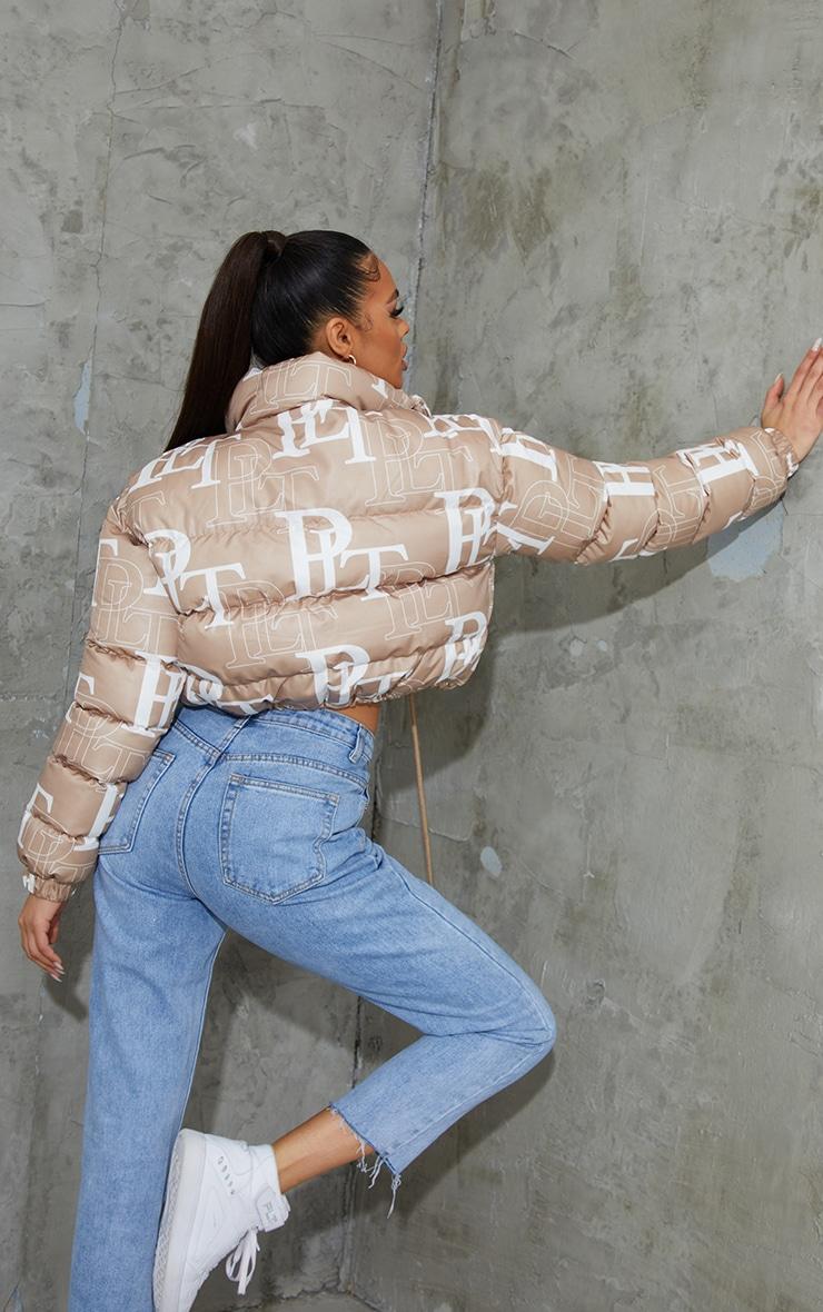 PRETTYLITTLETHING Stone Crop Puffer Jacket 2