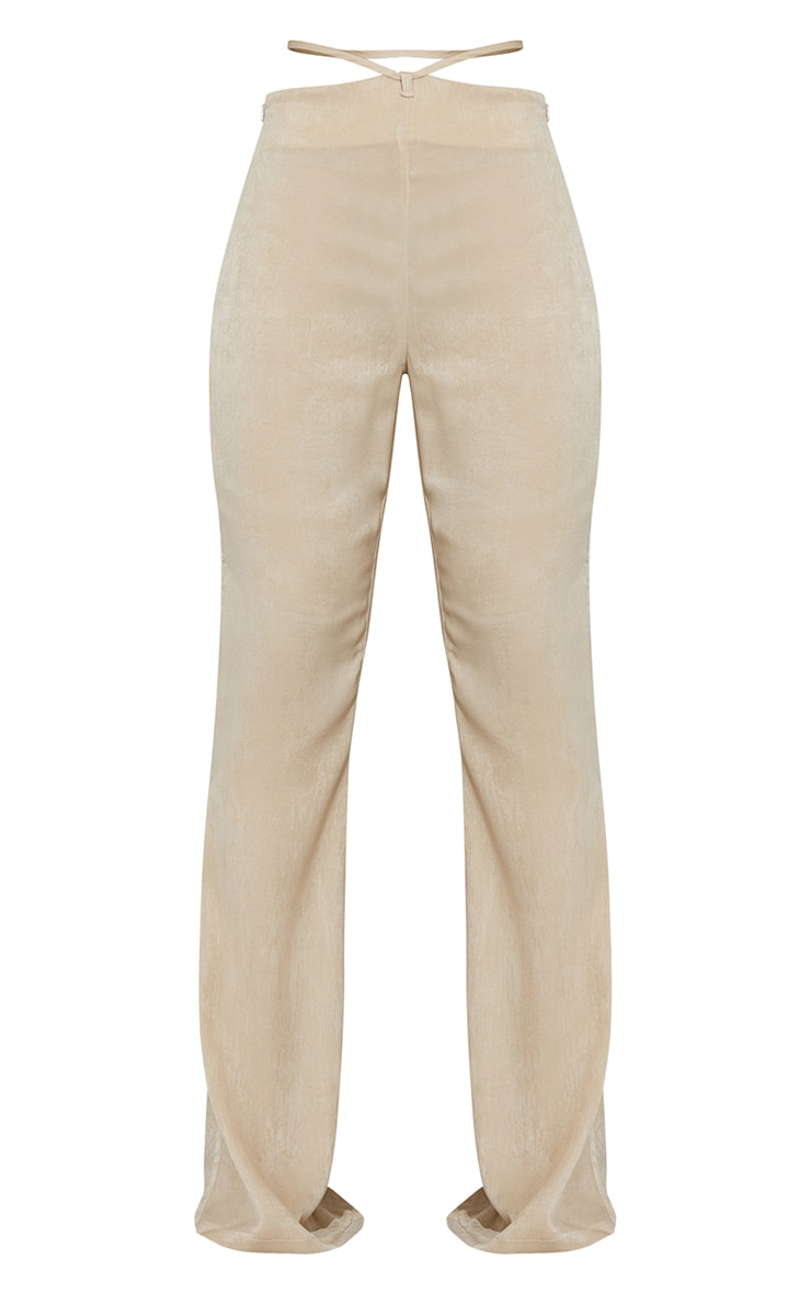 Stone Tie Waist Shimmer Flared Pants 5