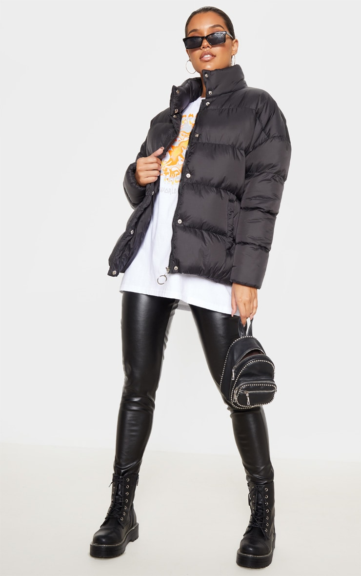 Black Oversized Boyfriend Puffer 1