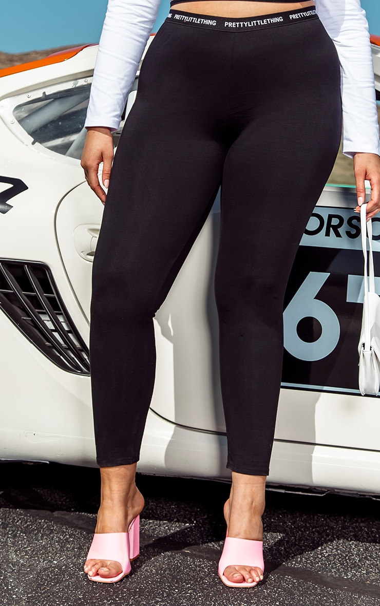 PRETTYLITTLETHING Plus - Legging noir à taille haute 2