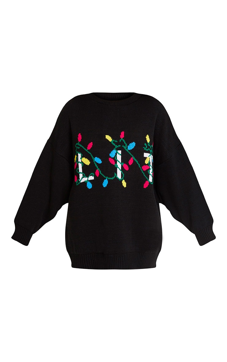 Lit Black Christmas Jumper 3