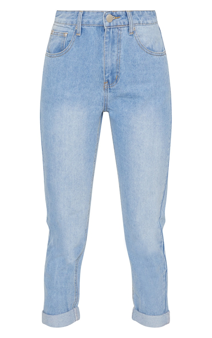 Light Blue Wash Mom Jean   3