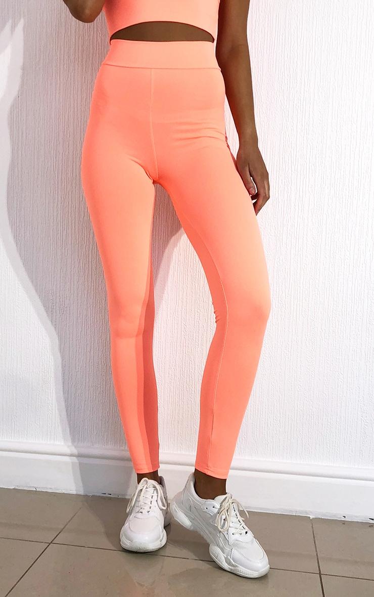 Peach Luxe High Waist Gym Leggings 2