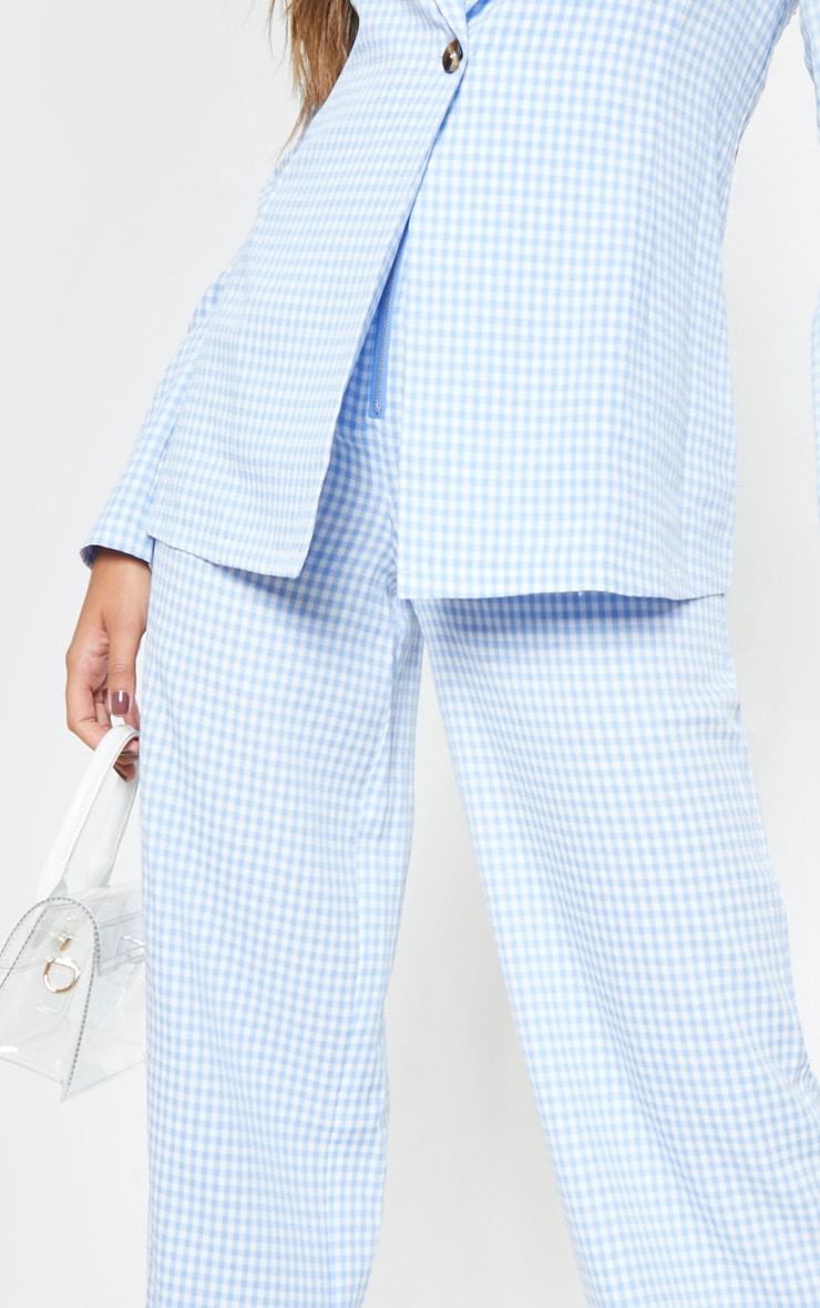 Blue Check Wide Leg Pants 5