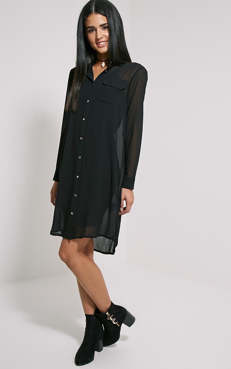 Loren Black Sheer Shirt 3