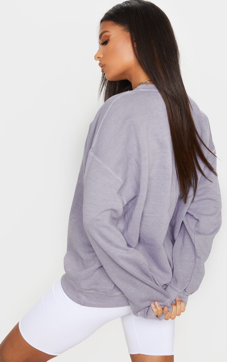 Lilac Washed Oversized Sweater 2