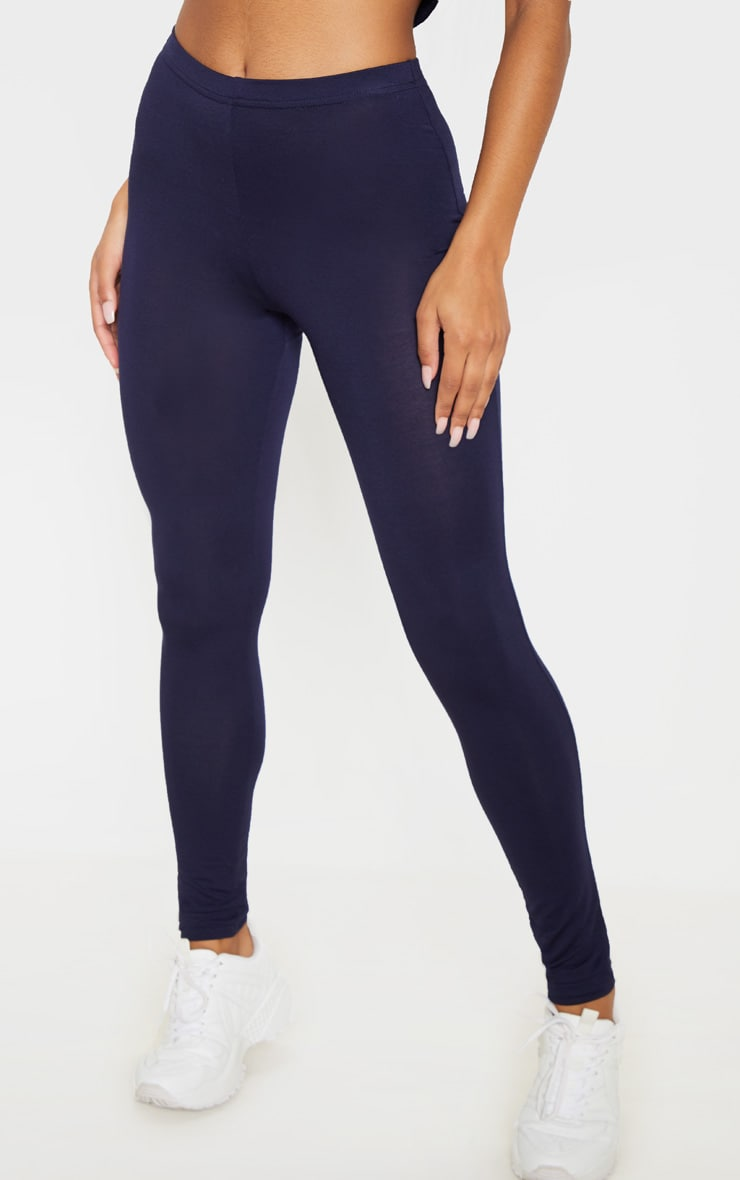 Basic Navy and Taupe Jersey Leggings 2 Pack 2