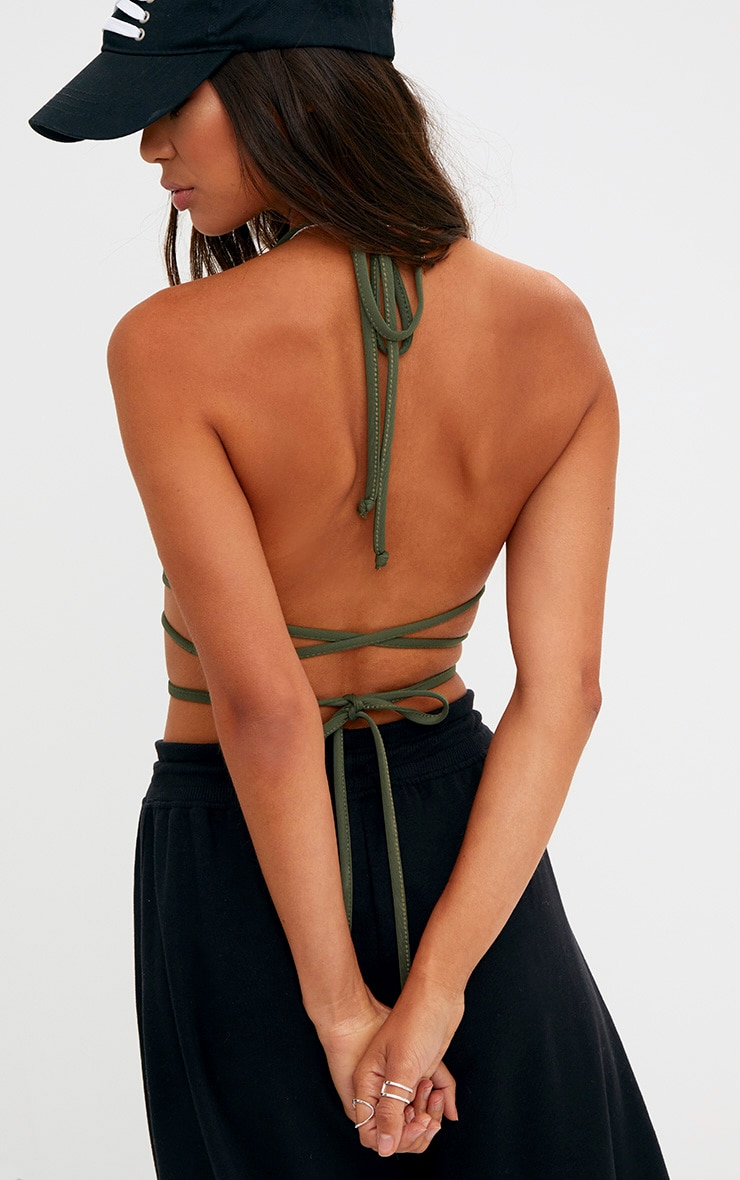 Forest Green Harness Bralet 2