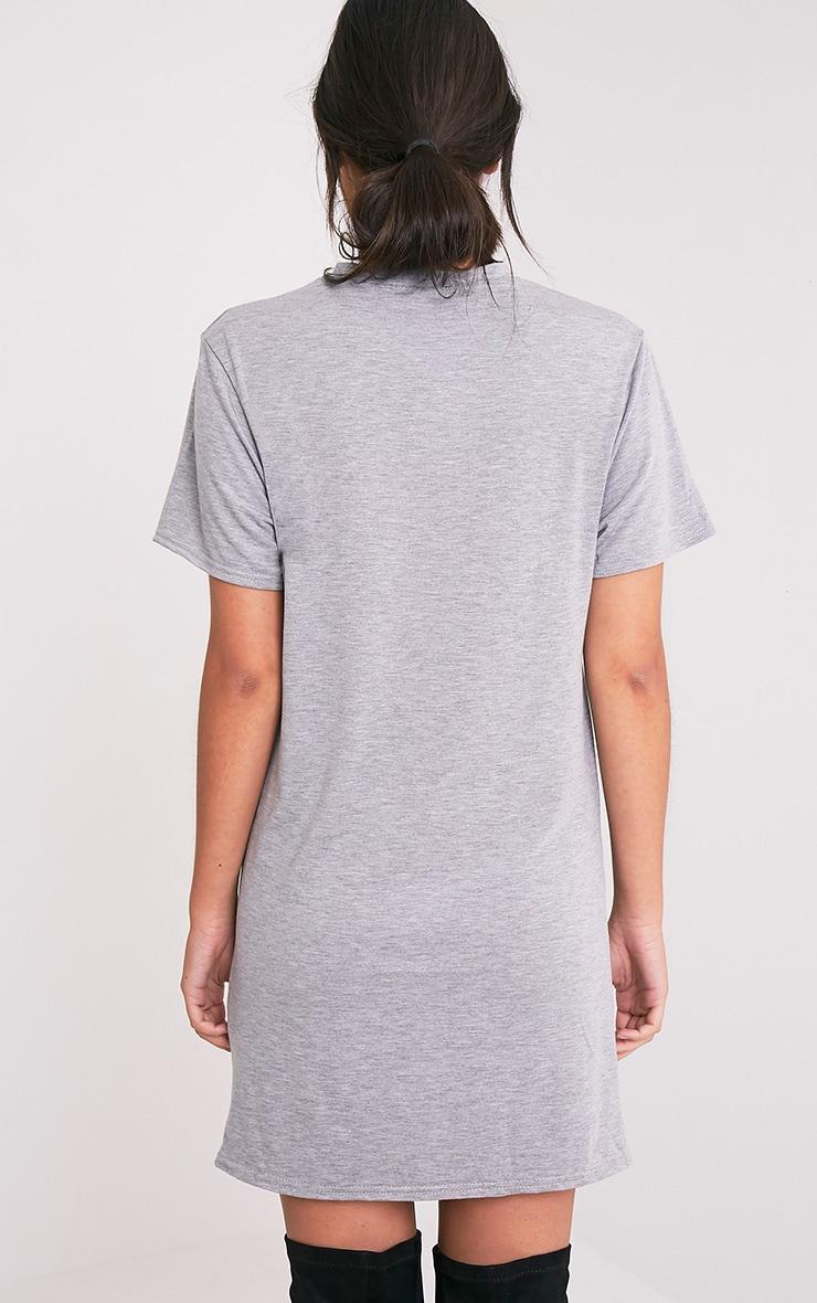 1980's Printed Grey T Shirt Dress 2