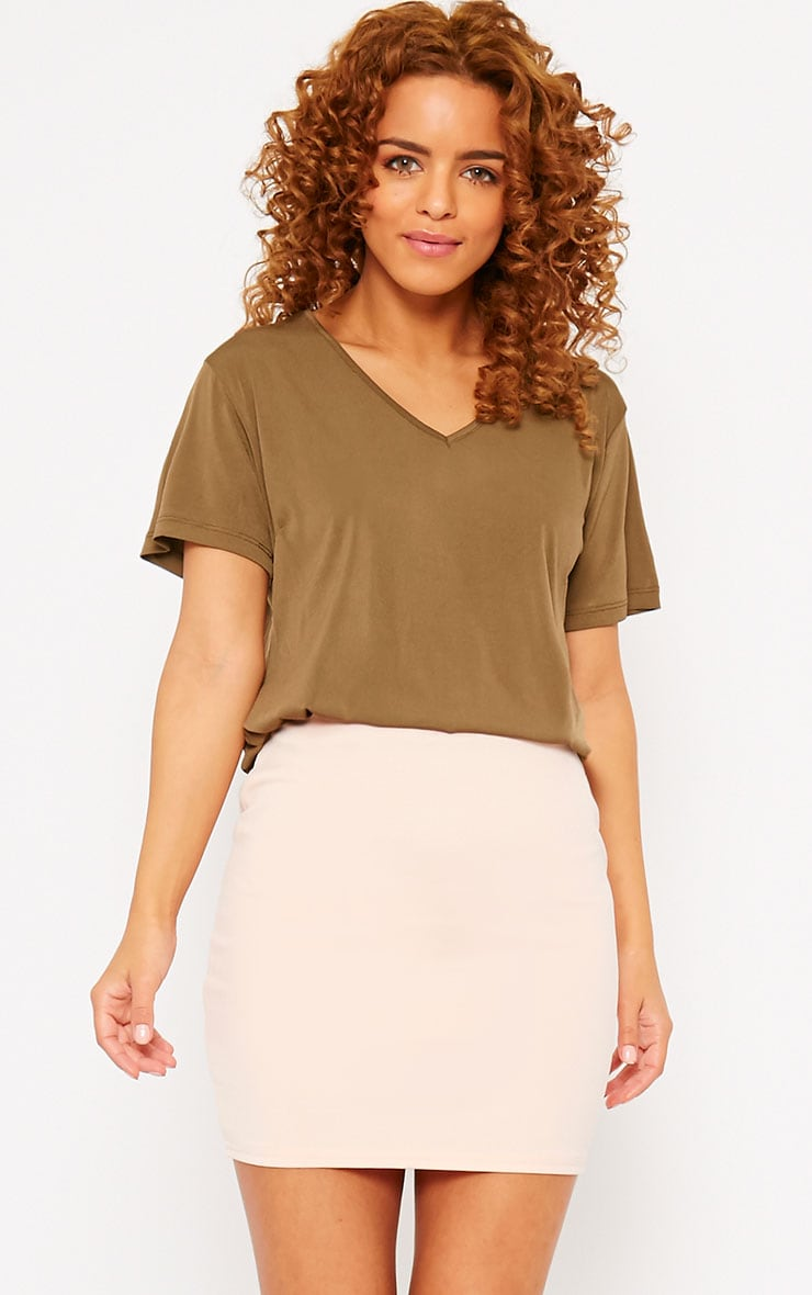Milah Nude Scuba Mini Skirt 1