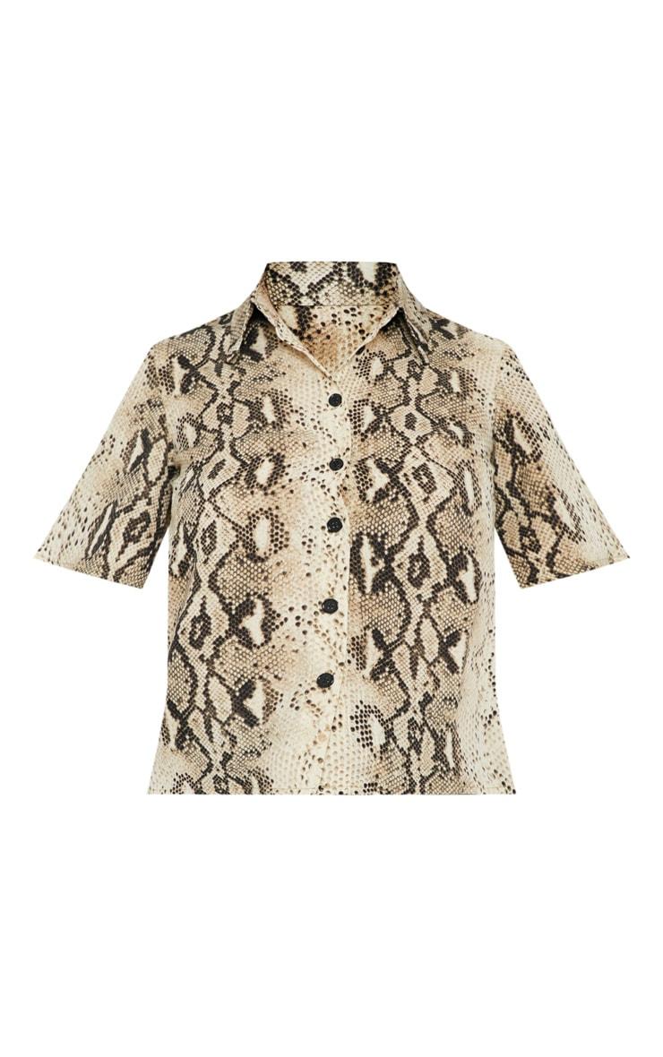 Petite Taupe Snake Print Shirt 3