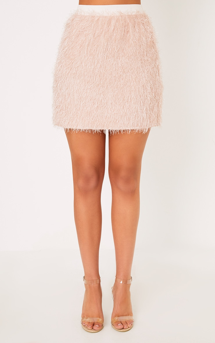 Diala Pink Eyelash  Mini Skirt  2