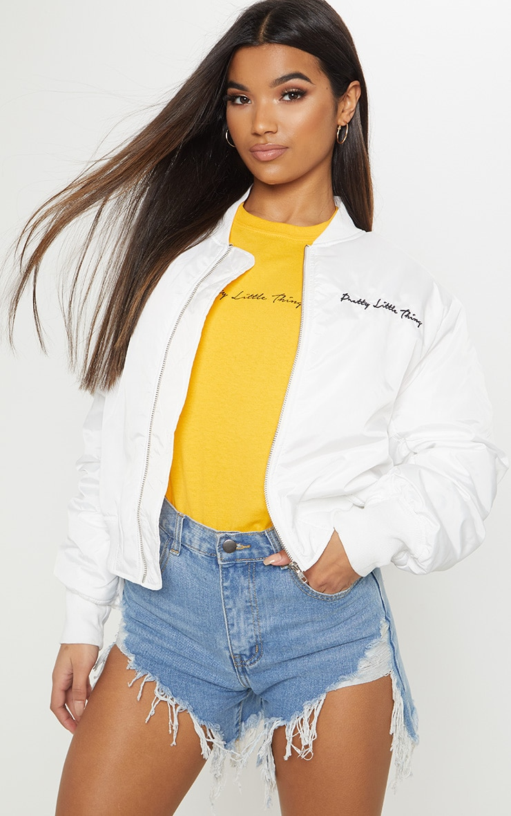 PRETTYLITTLETHING White Oversized Jacket 2