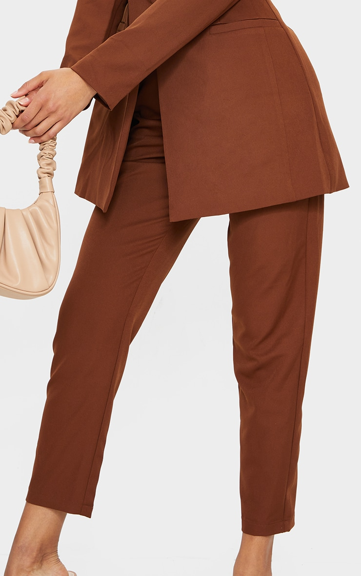 Chocolate Brown Cropped Pants 4