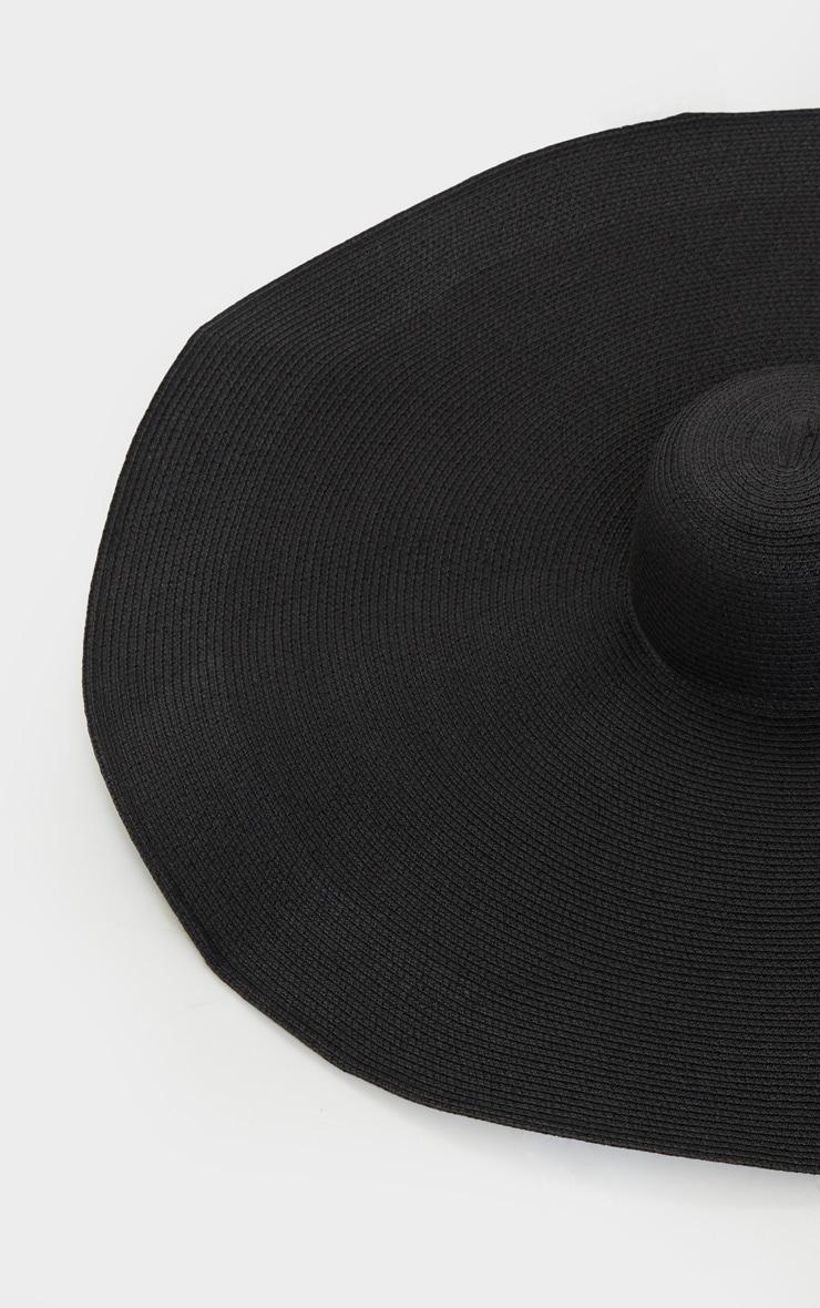 Chapeau de paille oversize noir 3