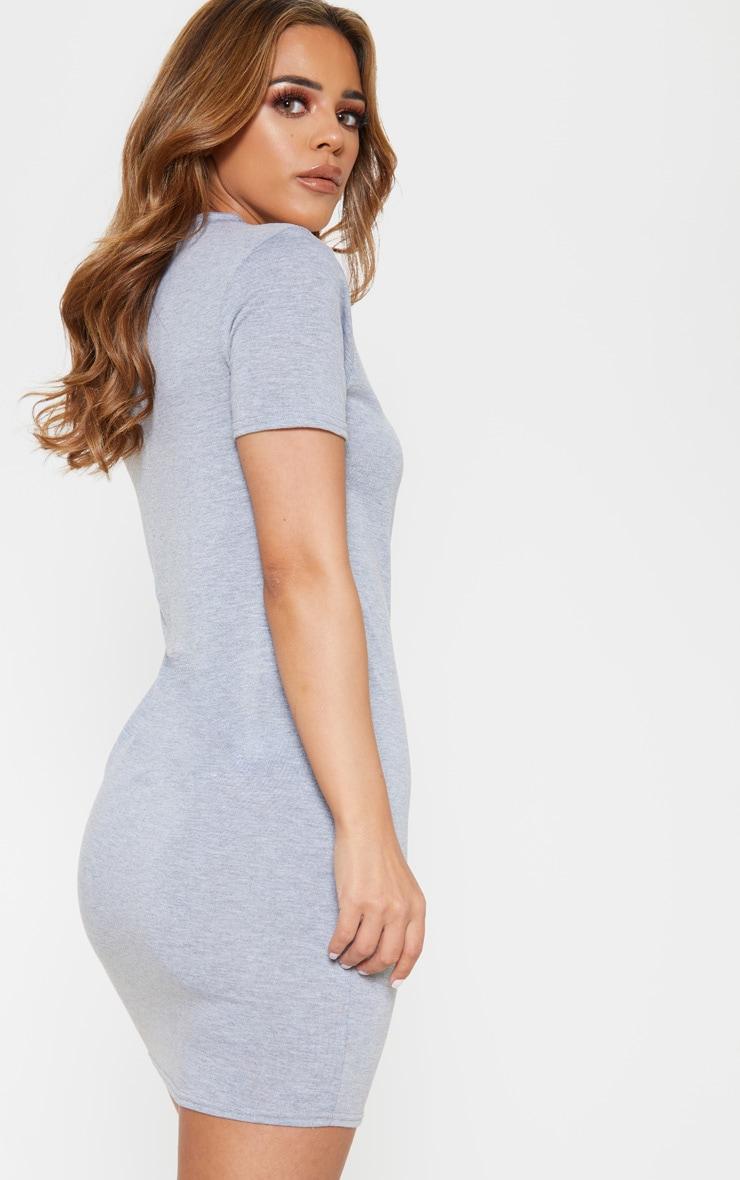 Petite Grey Short Sleeve Jersey Dress 2