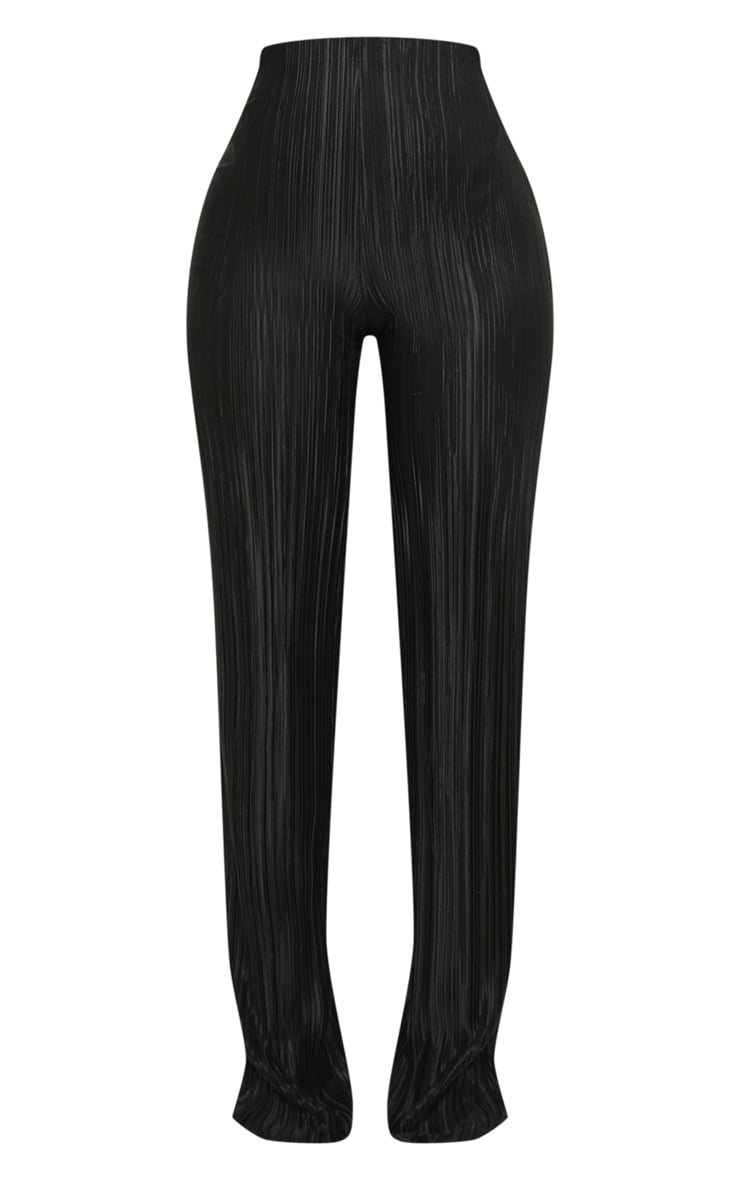 Shape Black Plisse Wide Leg Trouser 3