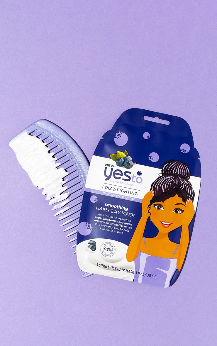 Yes to Superblueberries Smoothing Greek Yogurt & Probiotics Clay Hair Mask 3