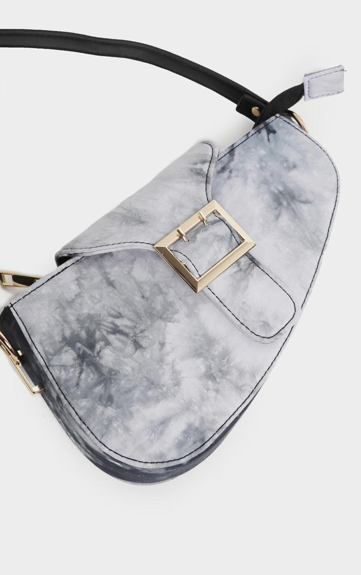 Black Tie Dye Saddle Bag 3