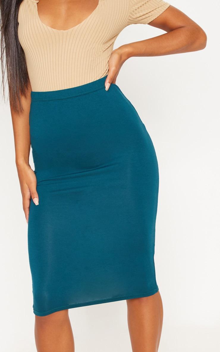 Teal Basic Midi Skirt 6