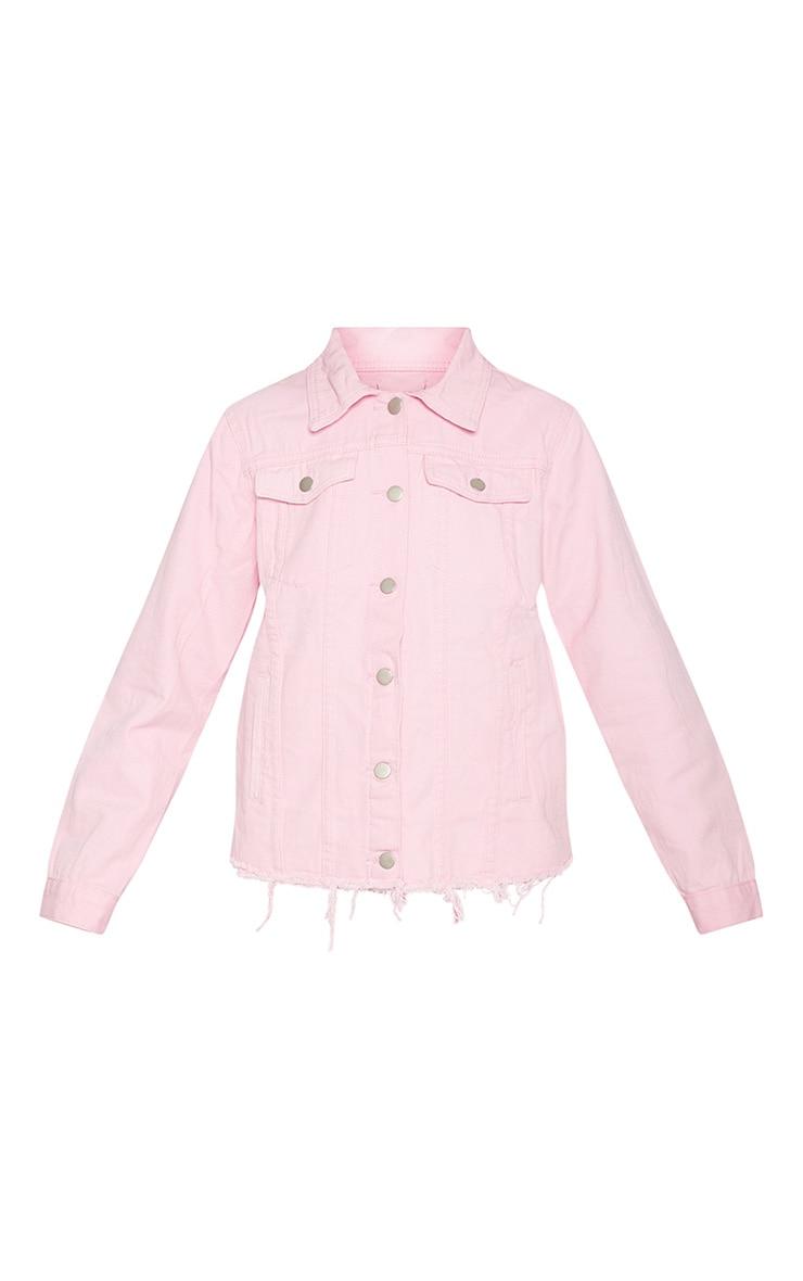 Pink Abegaila Oversized Denim Jacket 3