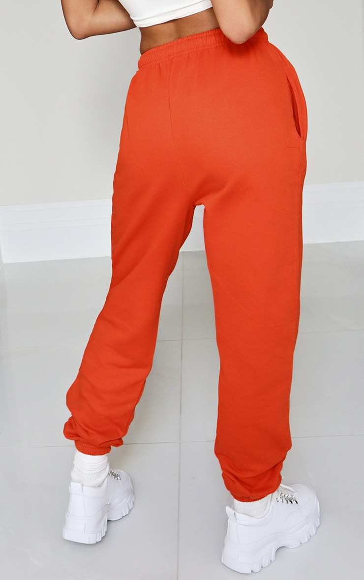 Orange Casual Joggers 3