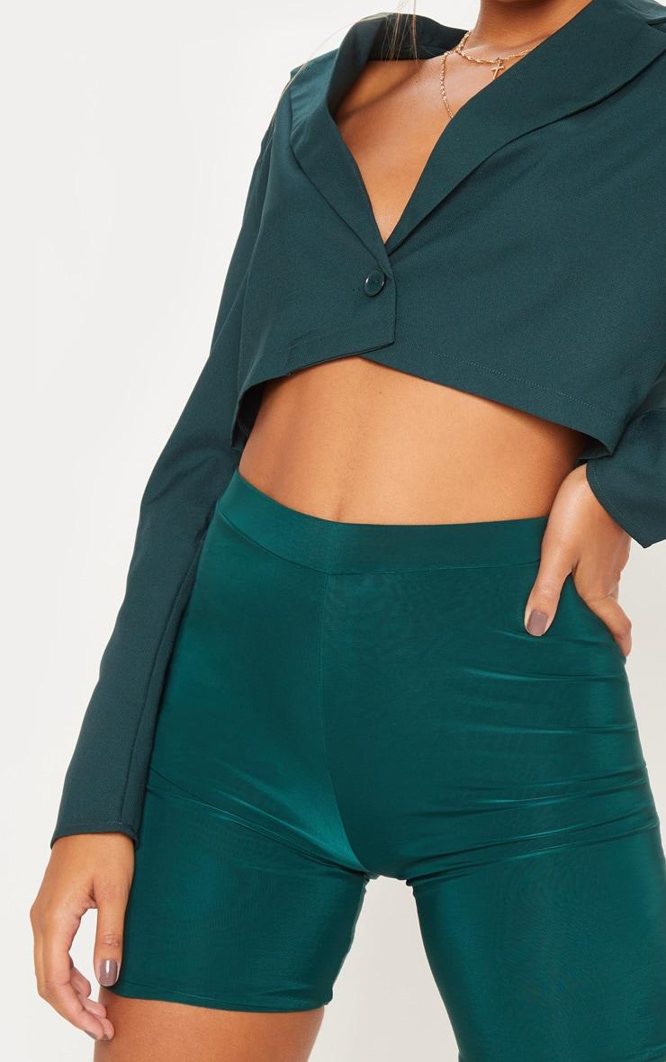 Emerald Green Cropped Blazer  5