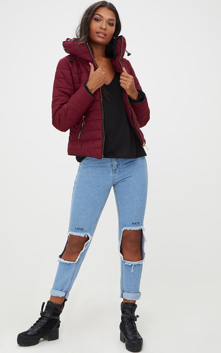Mara Burgundy Puffer Jacket 3