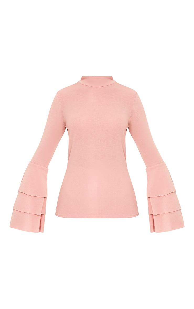 Pink Knit Ruffle Sleeve Jumper 3
