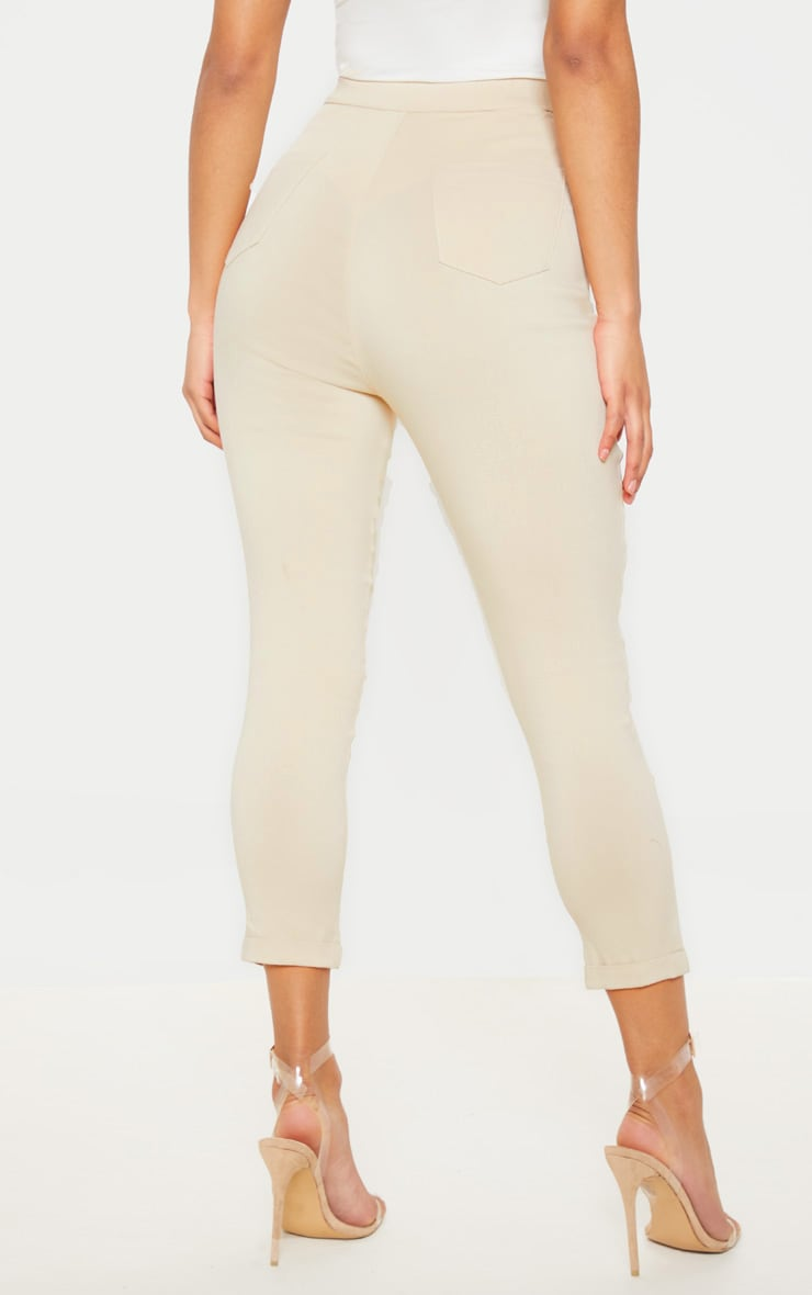 Simi Cream High Waisted Jeggings 5