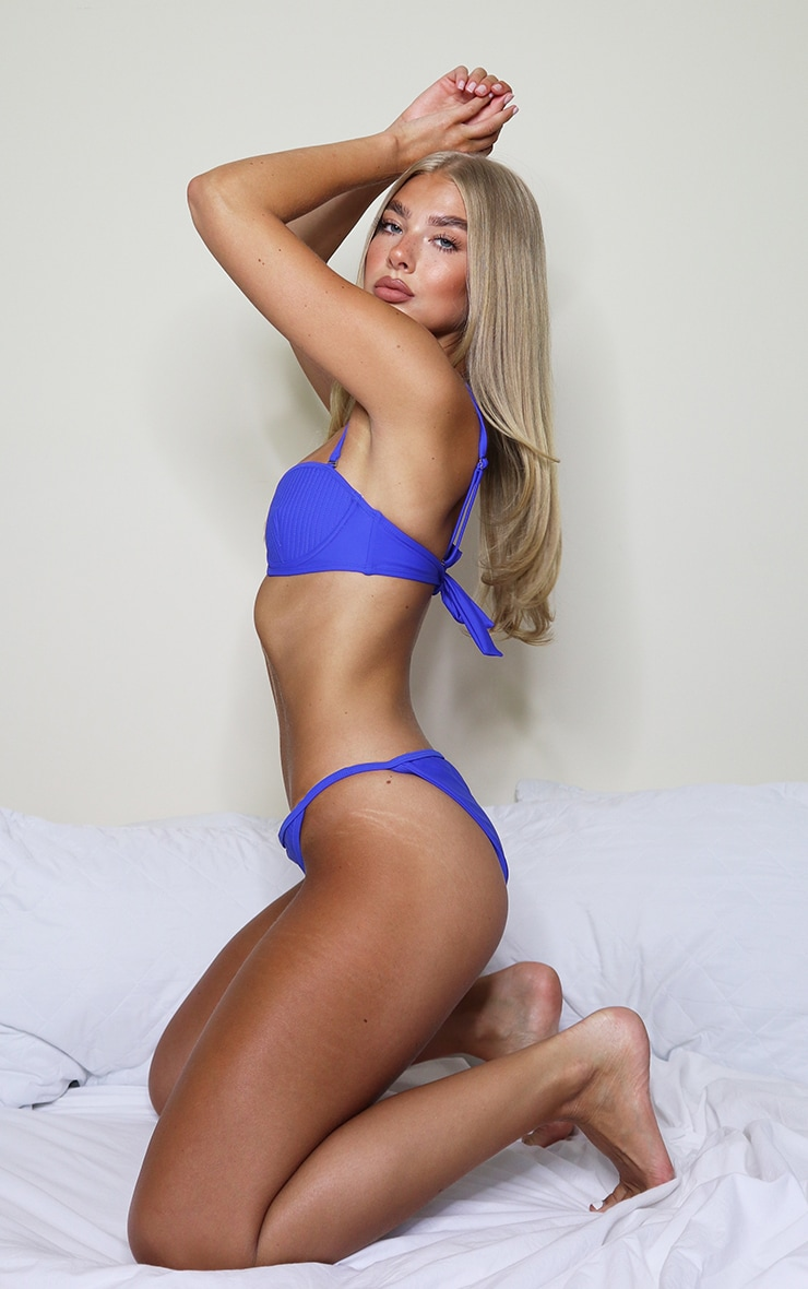 Cobalt Channel Detail Cupped Bikini Top 3