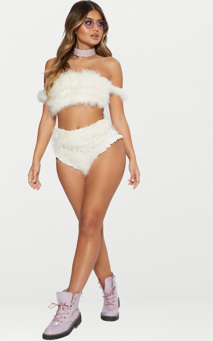 White Feather Bandeau Top 5