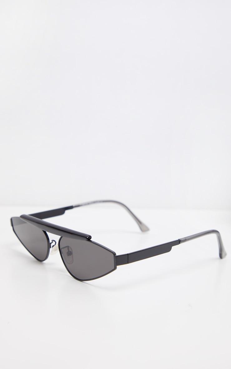 Black Brow Bar Slim Almond Lens Sunglasses 3