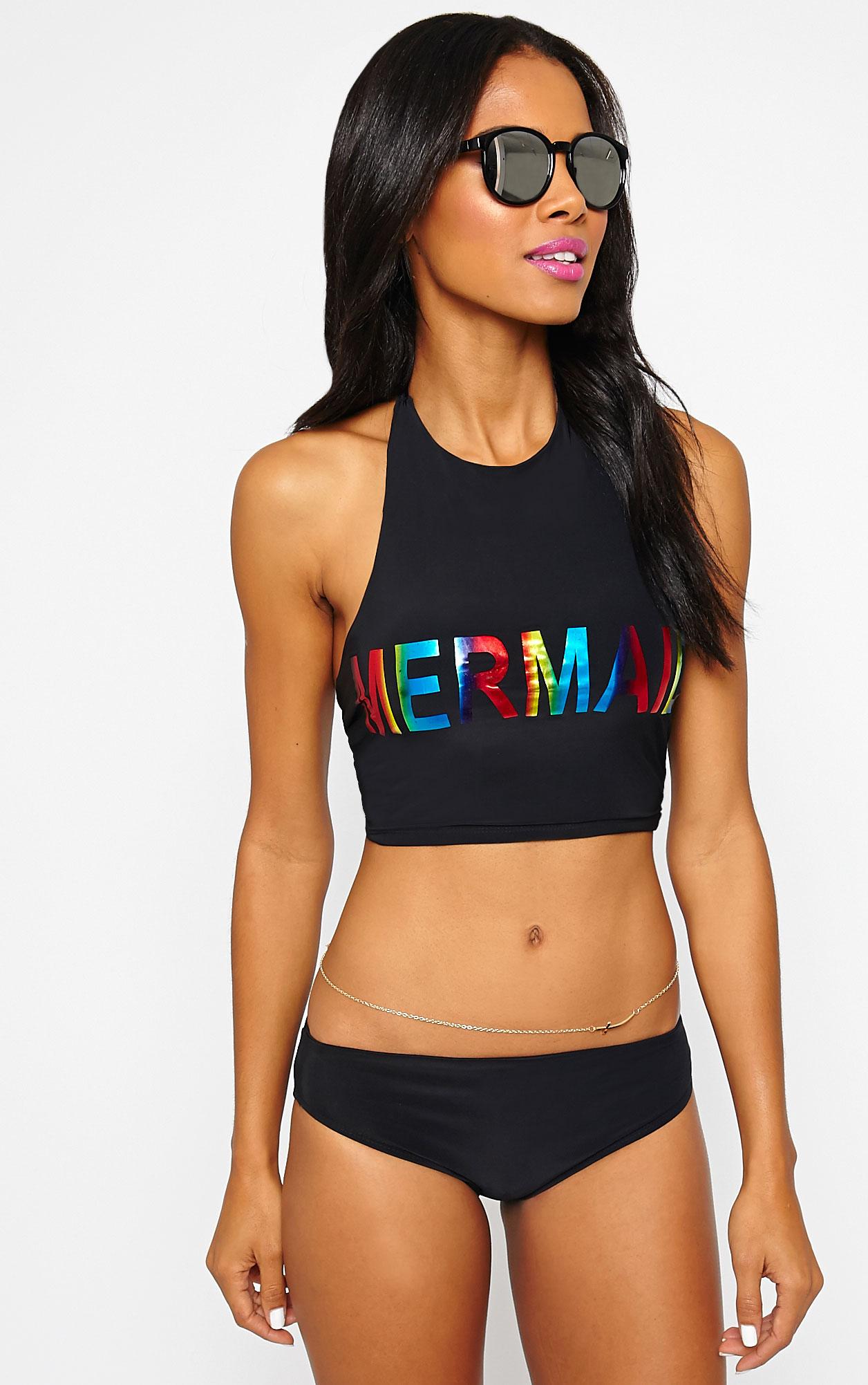 Savanna Black Mermaid Bikini Top 5