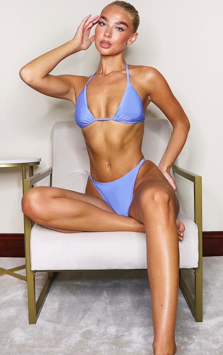 Cornflower Blue Mix & Match Triangle Bikini Top 3