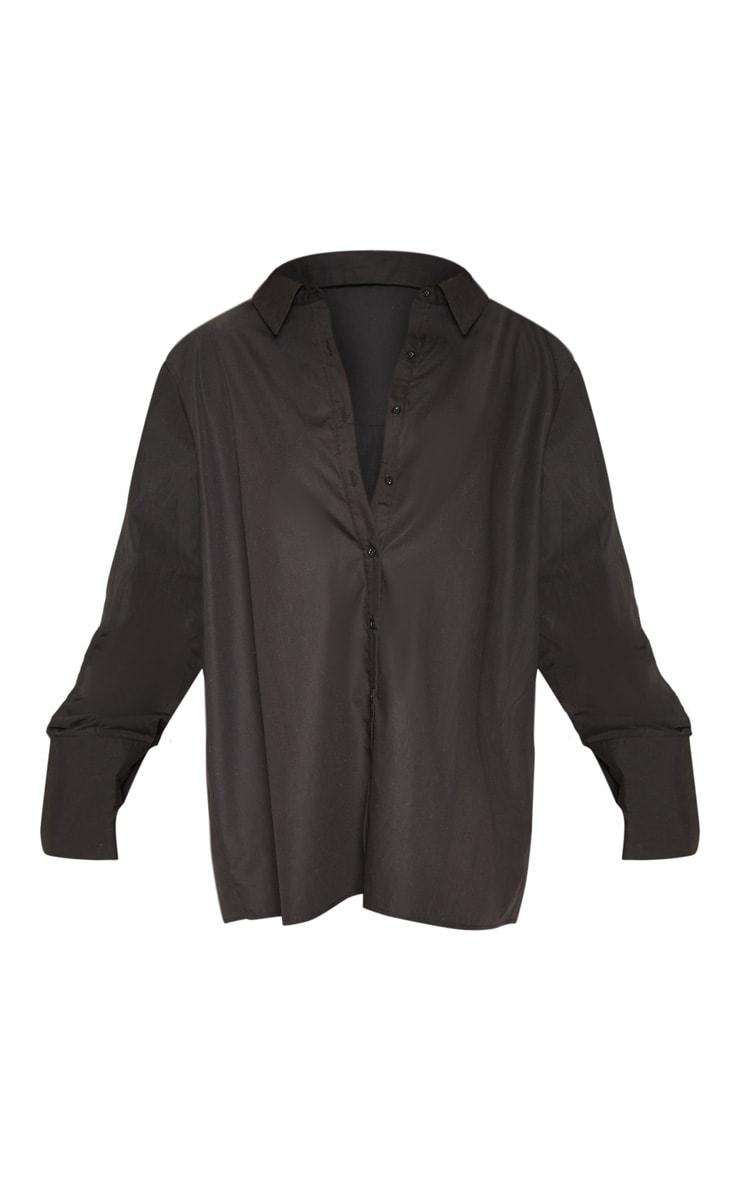 Black Oversized Cuff Shirt 3