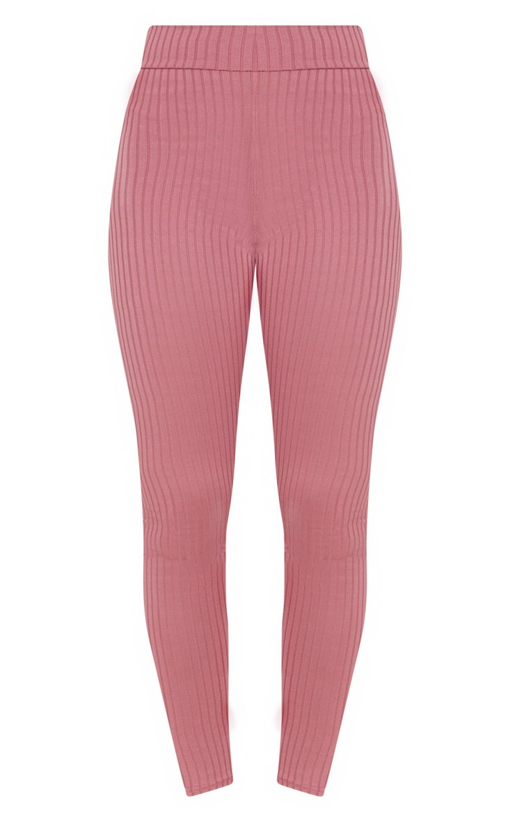 Harlie Rose Ribbed High Waisted Leggings 3