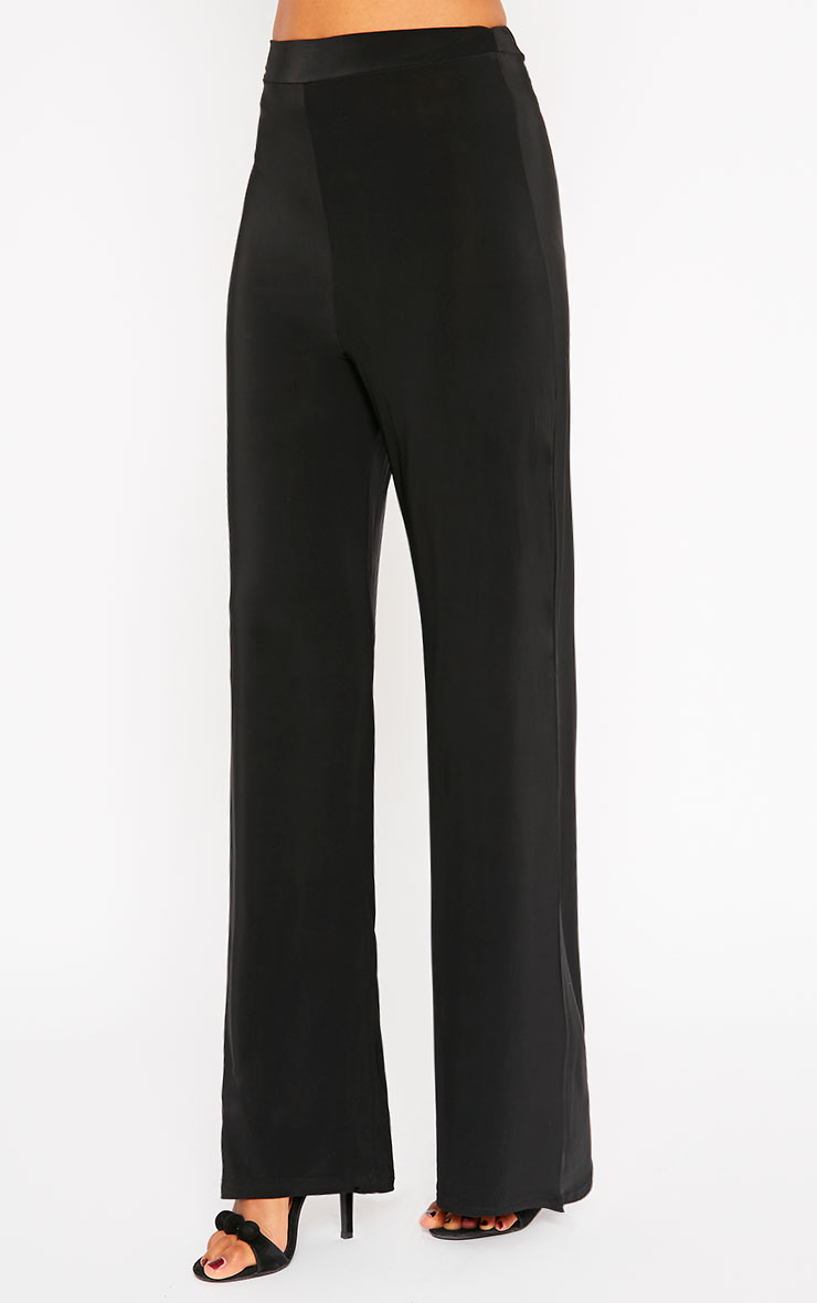 Remi Black Soft Touch Wide Leg Trousers 3