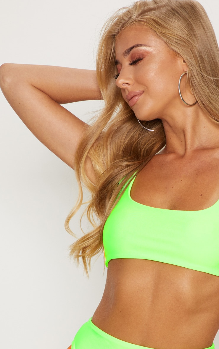 Lime Mix & Match Scoop Neck Top 5