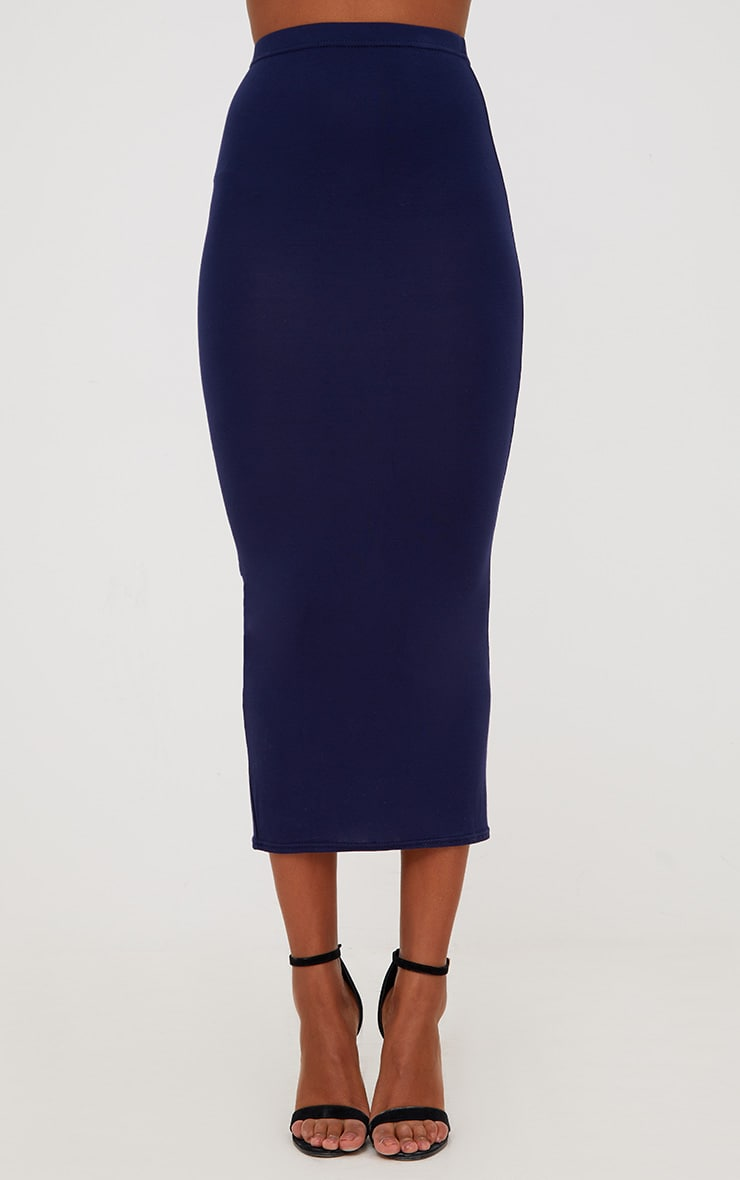 Red/Navy 2 Pack Jersey Midaxi Skirt 2