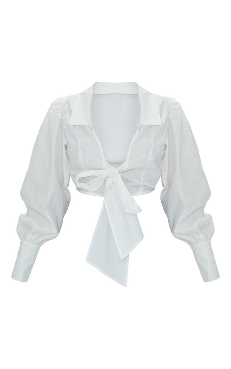 Petite White Bow Detail Blouse 1